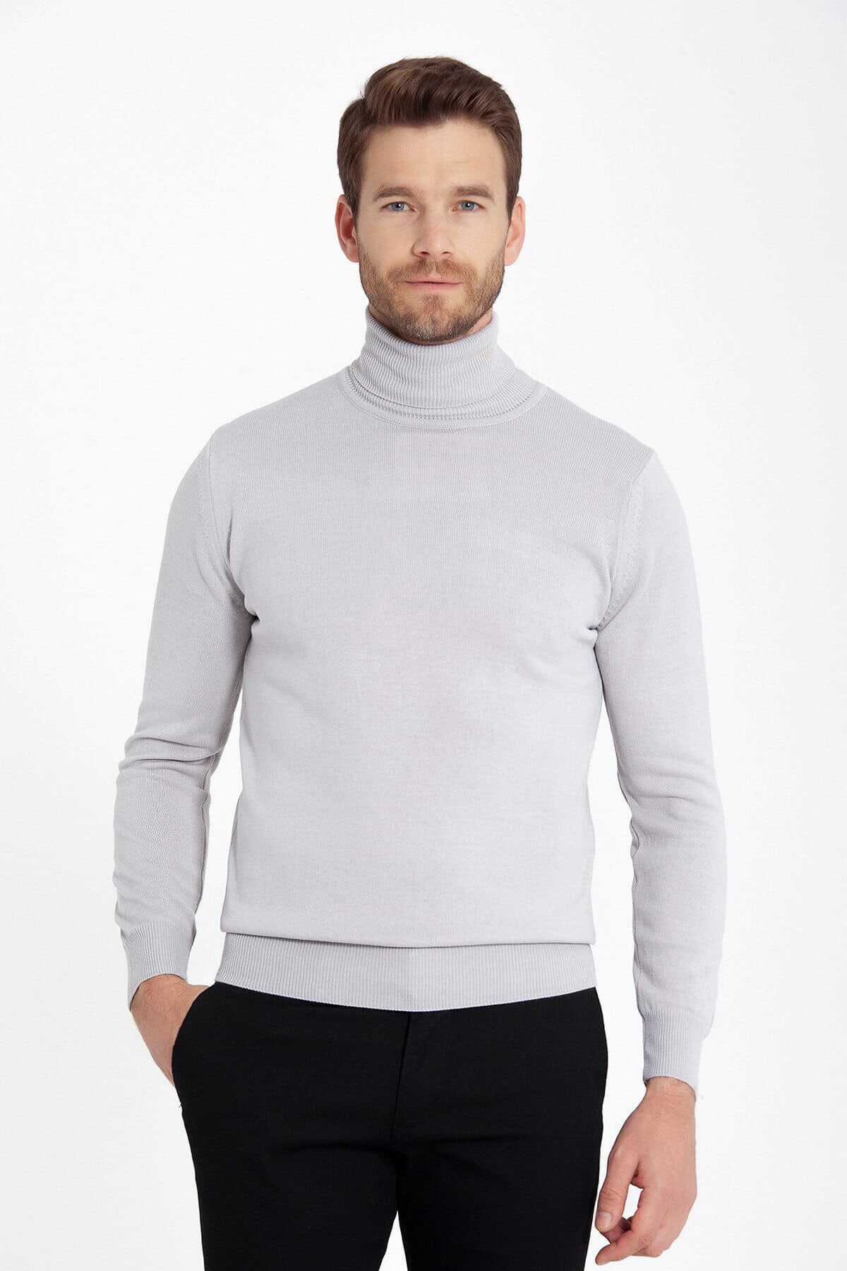 - Grey Regular Sweater