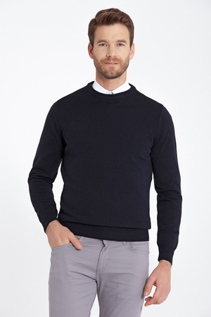- Navy Regular Sweater