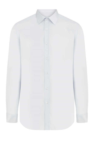 White Plain Dress Shirt - Thumbnail