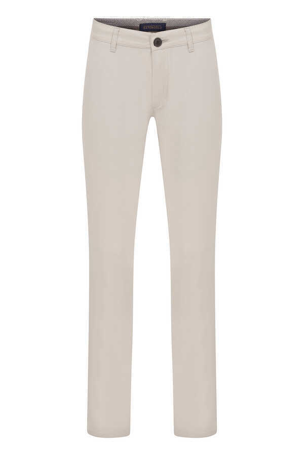 Hatemoğlu - Beige Slim Fit Casual Pants