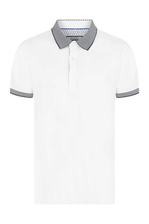 Hatemoğlu - White Printed Polo Shirt