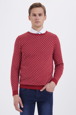 HTML - Crew Neck Red Sweater