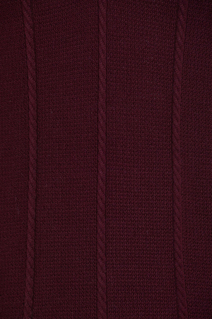 Burgundy Polo Neck Buttoned Sweater - Thumbnail