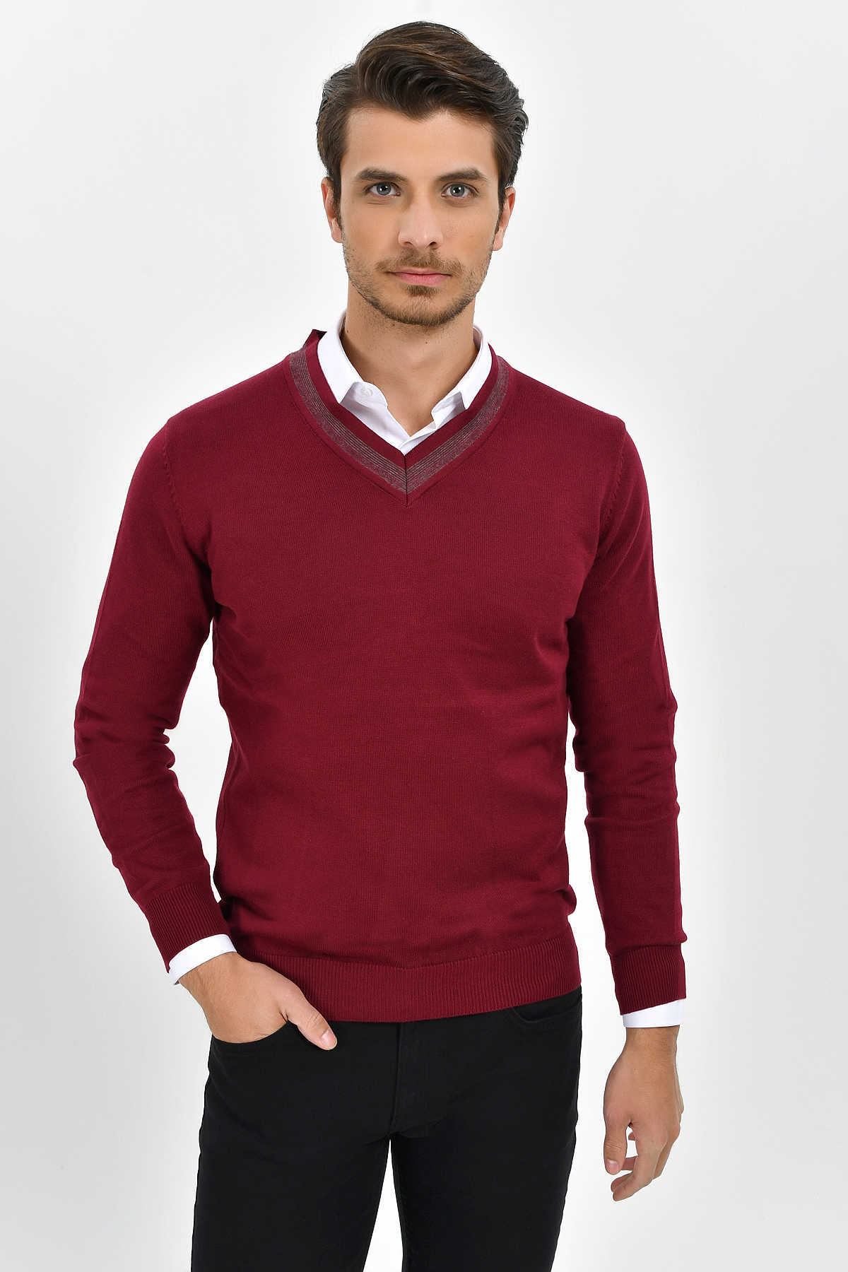 HTML - Burgundy Sweater