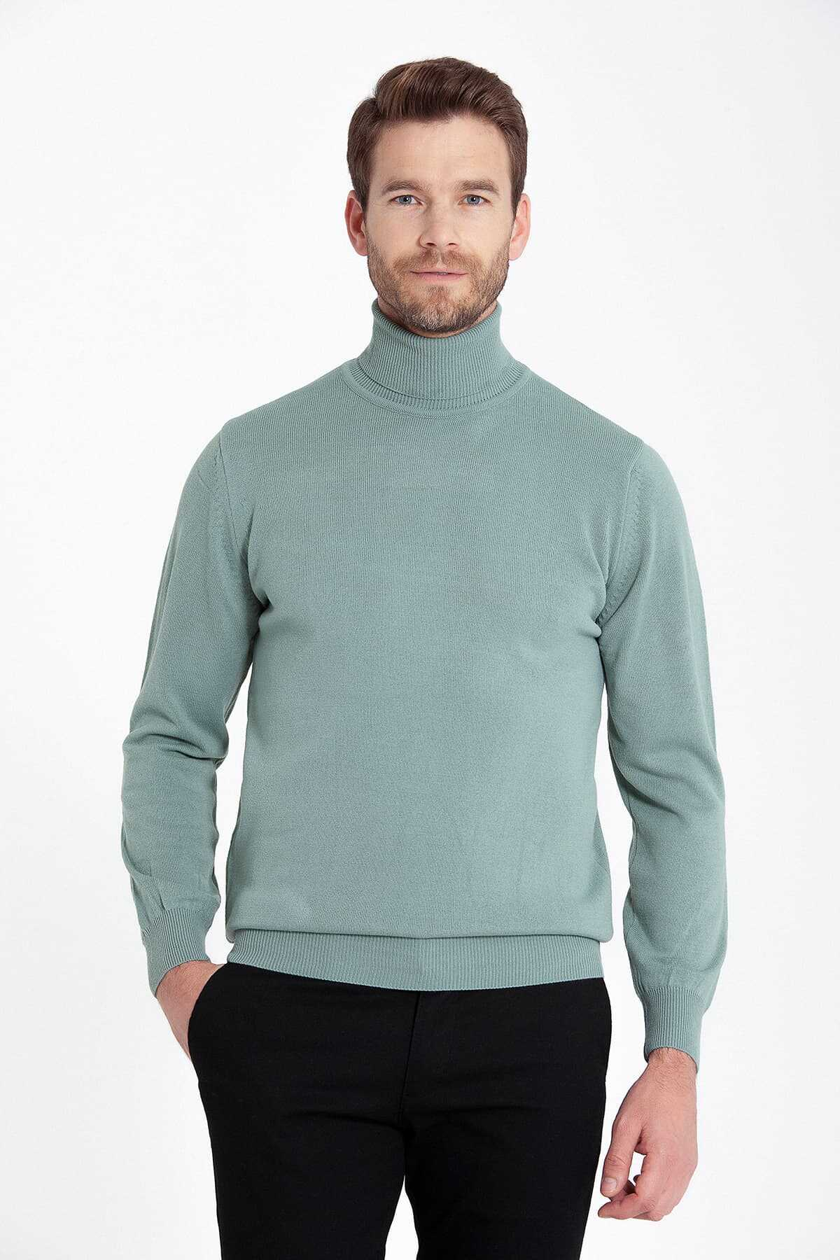 - Green Regular Sweater