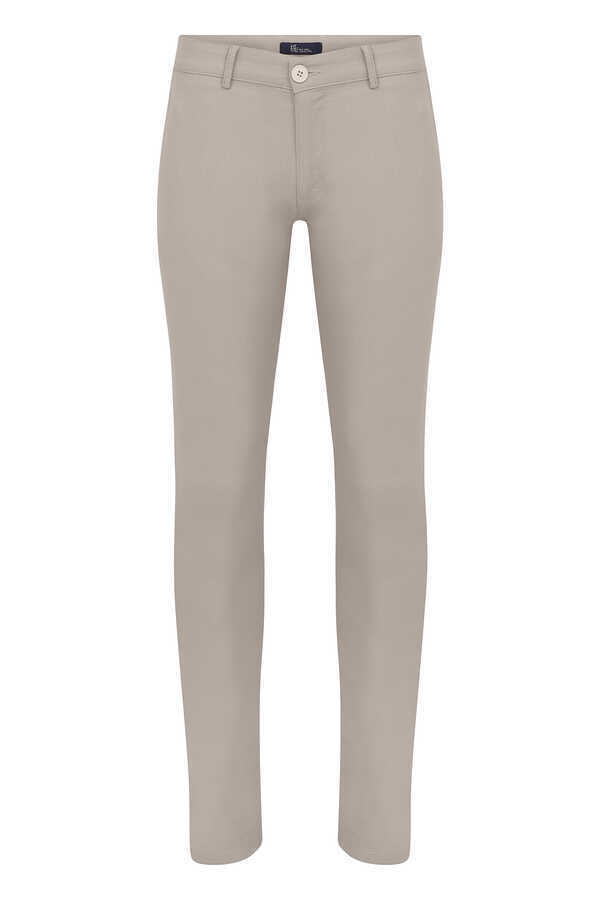 HTML - Beige Printed Slim Fit Pants