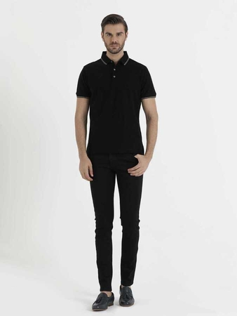 Hatem Saykı - Black Basic Polo Shirt