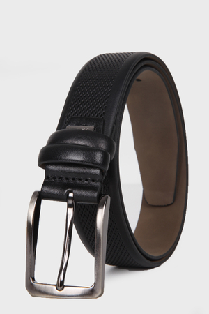 Black Leather Belt - Thumbnail