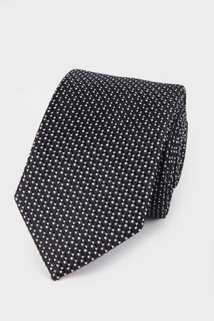 Hatemoğlu - Black Checkered Tie