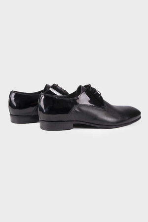 Hatem Saykı - Black Classic Oxford Shoes
