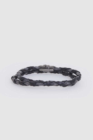 Hatem Saykı - Black Leather Bracelet