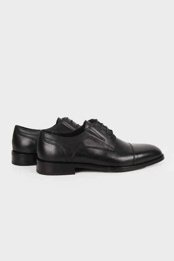 Hatemoğlu - Black Leather Classic Oxford Shoes