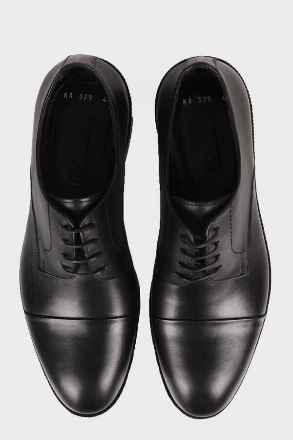 Black Leather Classic Oxford Shoes