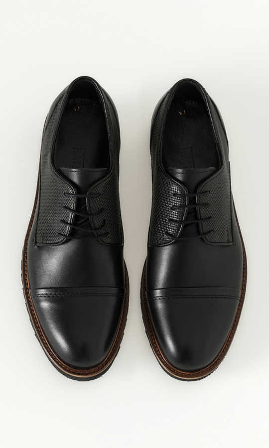 Hatemoğlu - Black Leather Casual Shoes