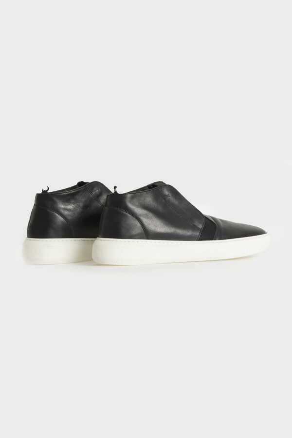 HTML - Black Leather Sneakers