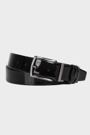 Black Patent Leather Belt - Thumbnail