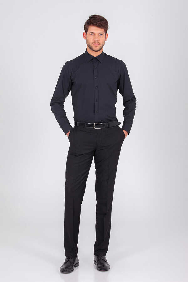 Hatemoğlu - Black Plain Dress Shirt
