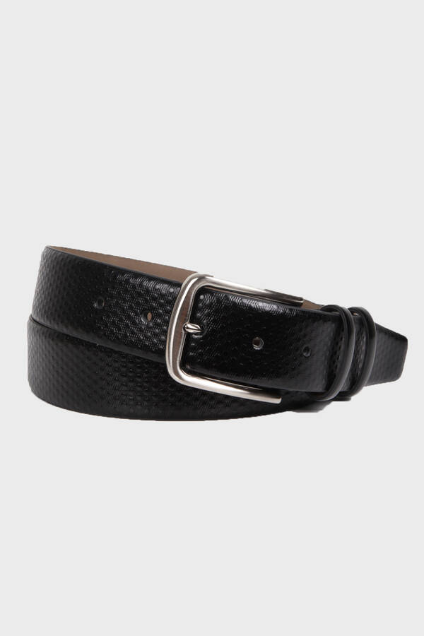 Black Polka Dot Leather Belt