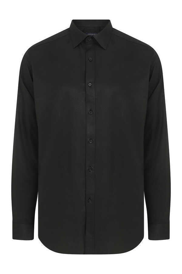 Hatemoğlu - Black Printed Dress Shirt