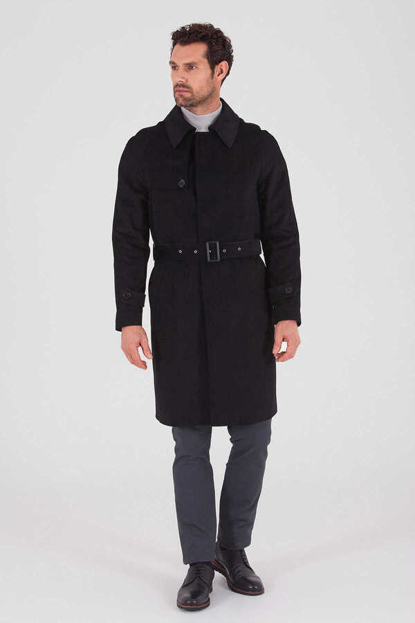 Hatem Saykı - Black Round Collar Coat
