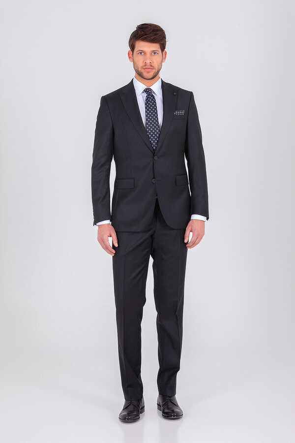 Hatem Saykı - Black Slim Fit Suit