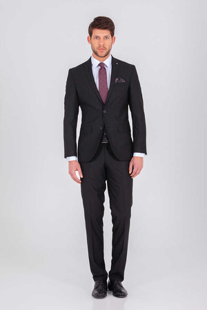 Hatemoğlu - Black Slim Fit Suit
