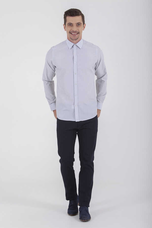 Hatemoğlu - Black Striped Slim Fit Shirt