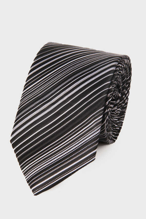 Hatemoğlu - Black Striped Tie