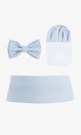 Hatem Saykı - Blue Bow Tie Sash Pocket Set