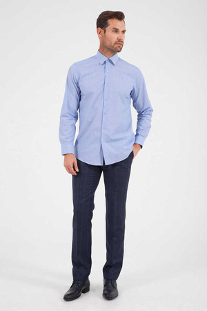 Hatem Saykı - Blue Dobby Dress Shirt