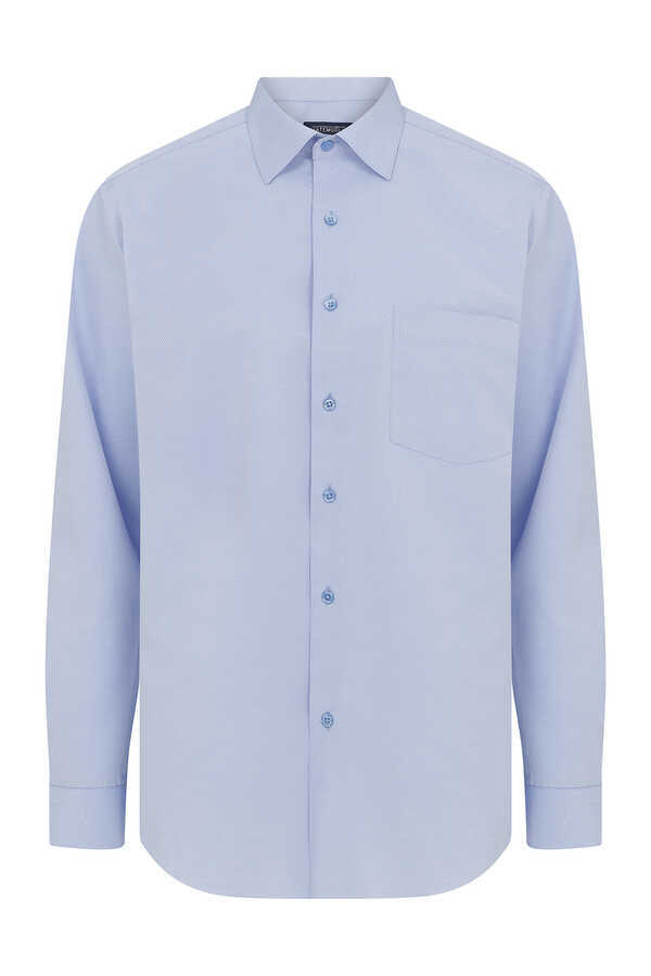 Hatemoğlu - Blue Dobby Dress Shirt