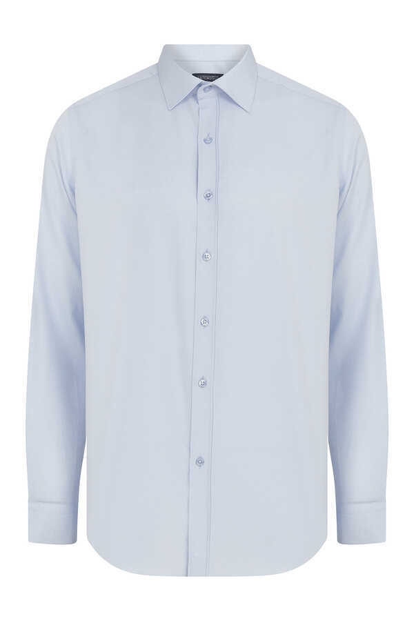 Hatemoğlu - Blue Plain Dress Shirt