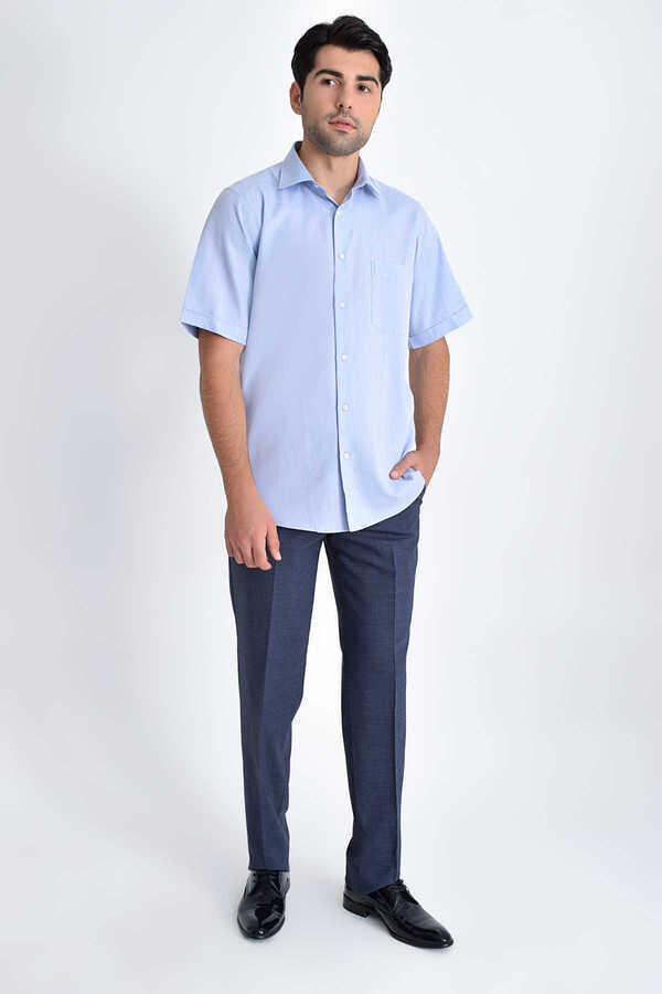 Hatemoğlu - Blue Short Sleeve Shirt