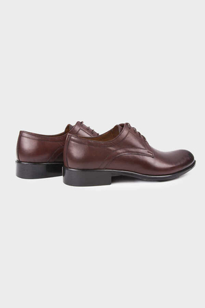 Brown Classic Oxford Shoes - Thumbnail