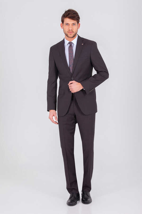 Hatem Saykı - Brown Slim Fit Suit