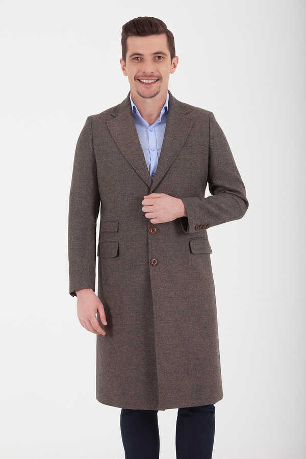 Hatemoğlu - Brown Woolen Coat