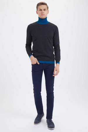 Hatem Saykı - Coal Wool Crew Neck Sweater
