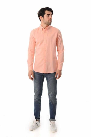 HTML - Coral Slim Fit Casual Shirt