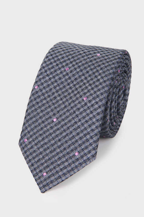 Gray Diamond Line Tie