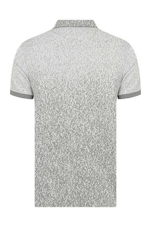Gray Printed Polo T-Shirt - Thumbnail