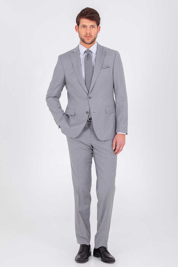 Hatem Saykı - Gray Slim Fit Suit