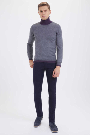 Hatem Saykı - Gray Wool Turtleneck Sweater