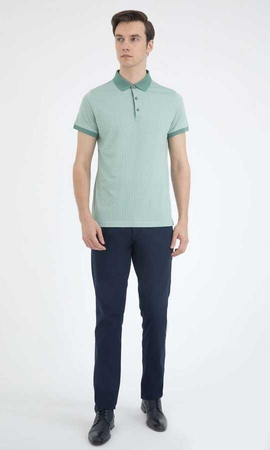 Hatem Saykı - Green Printed Polo T-Shirt
