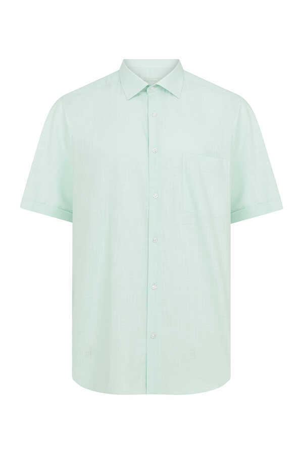 Hatemoğlu - Green Short Sleeve Dress Shirt