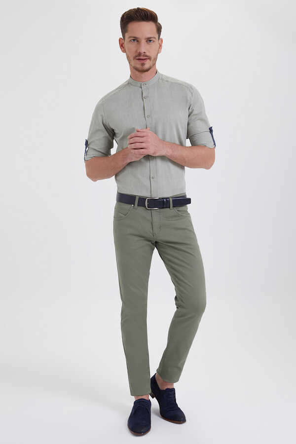 HTML - Green Slim Fit Pants