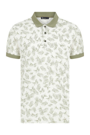 HTML - Khaki Printed Polo Shirt