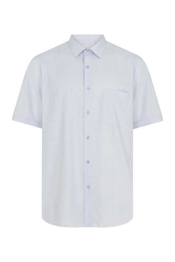 Hatemoğlu - Light Blue Short Sleeve Dress Shirt