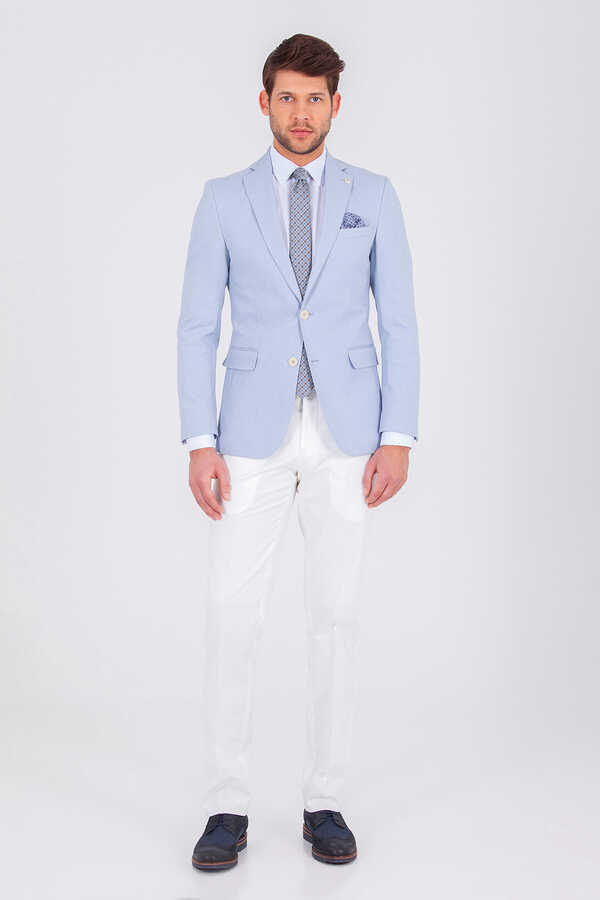 Hatem Saykı - Light Blue Slim Fit Suit