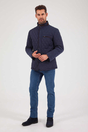 Hatem Saykı - Light Navy Quilted Jacket