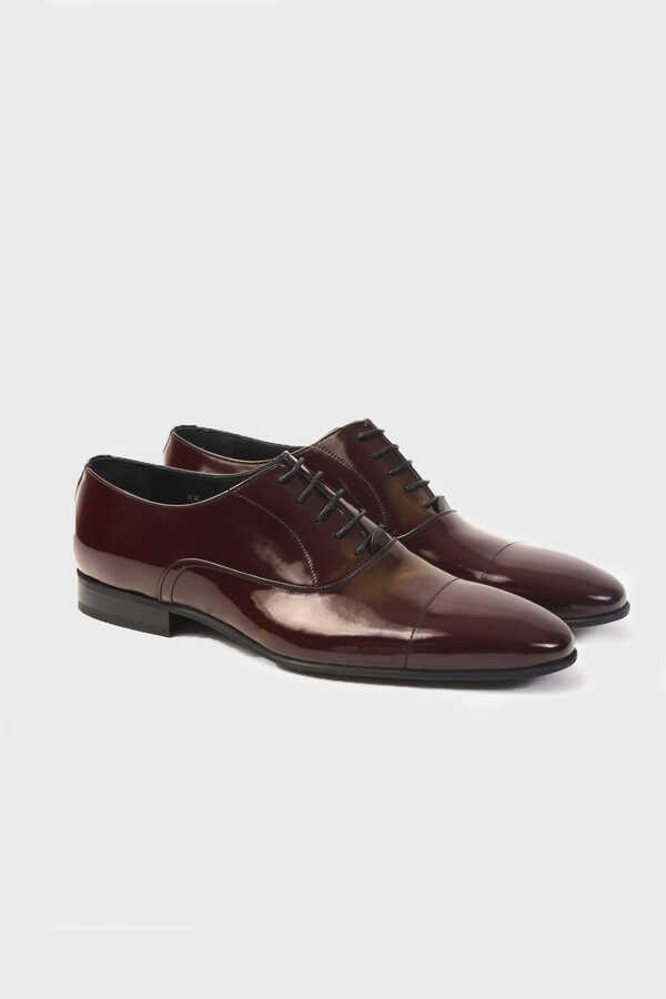 Hatemoğlu - Maroon Classic Oxford Shoes